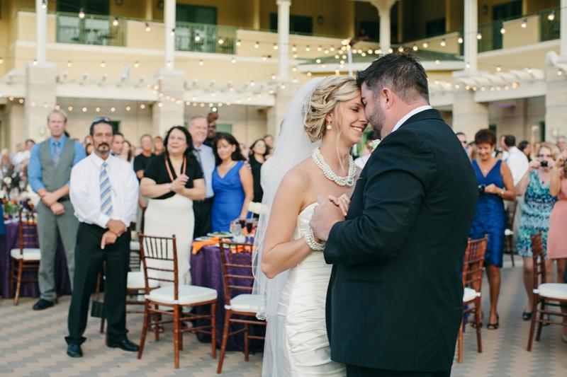 Elegant Purple & Orange Jacksonville Wedding via TheELD.com