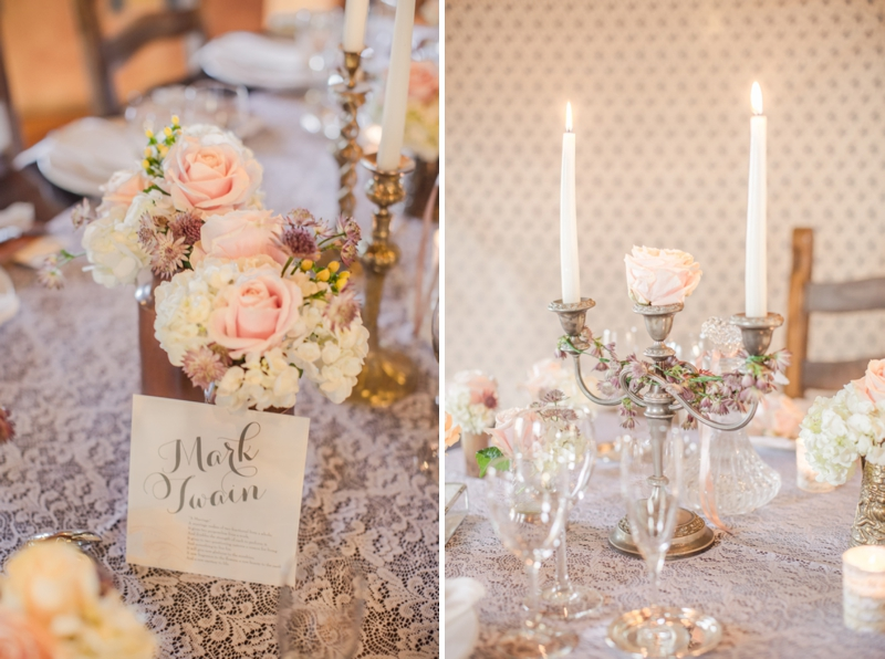 Vintage Romantic Garden Wedding Inspiration via TheELD.com