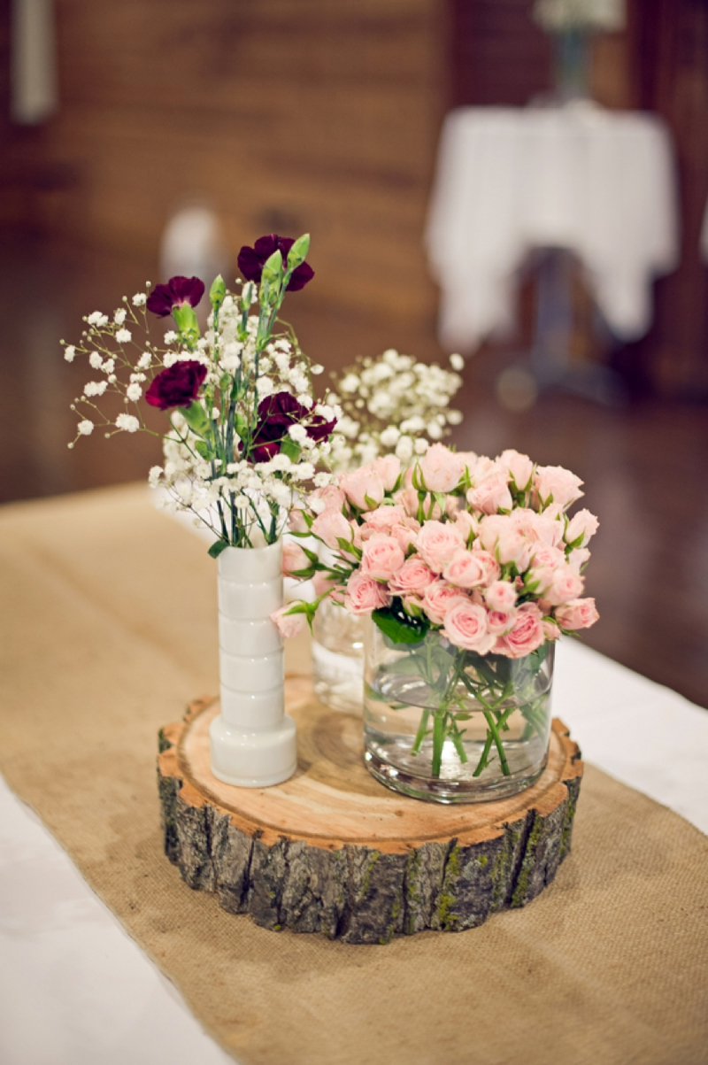 Rustic Pink and Red New York Wedding via TheELD.com