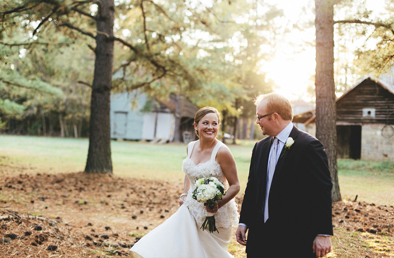Vintage Navy Blue North Carolina Wedding via TheELD.com