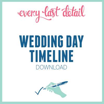 Creating A Wedding Day Timeline via TheELD.com