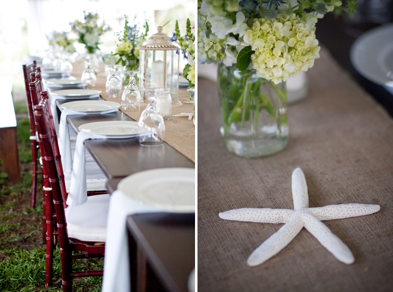 Rustic Chic Blue and Green Beach Wedding via TheELD.com