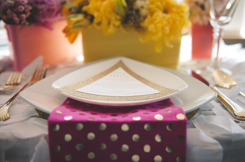 Colorful and Modern Geometric Wedding Inspiration via TheELD.com