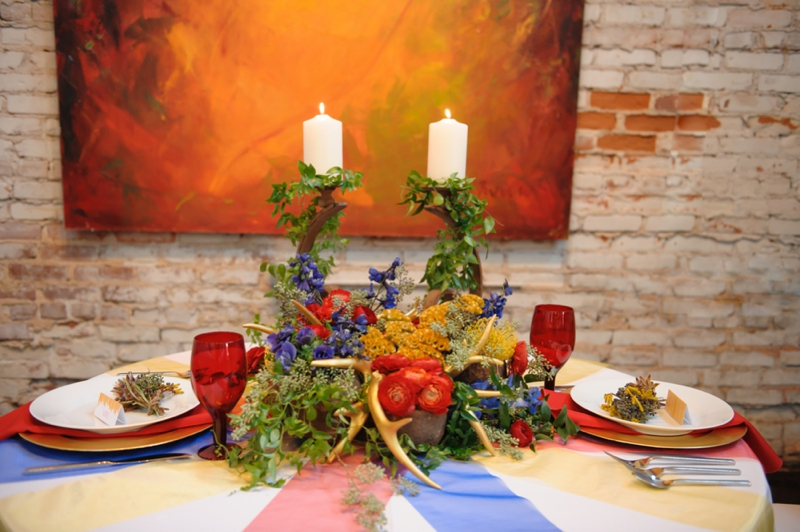 Modern Eclectic Art Inspired Wedding Ideas via TheELD.com