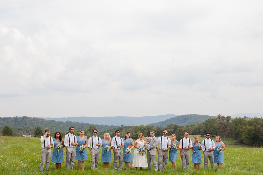 Eclectic Blue & Yellow West Virginia Farm Wedding via TheELD.com