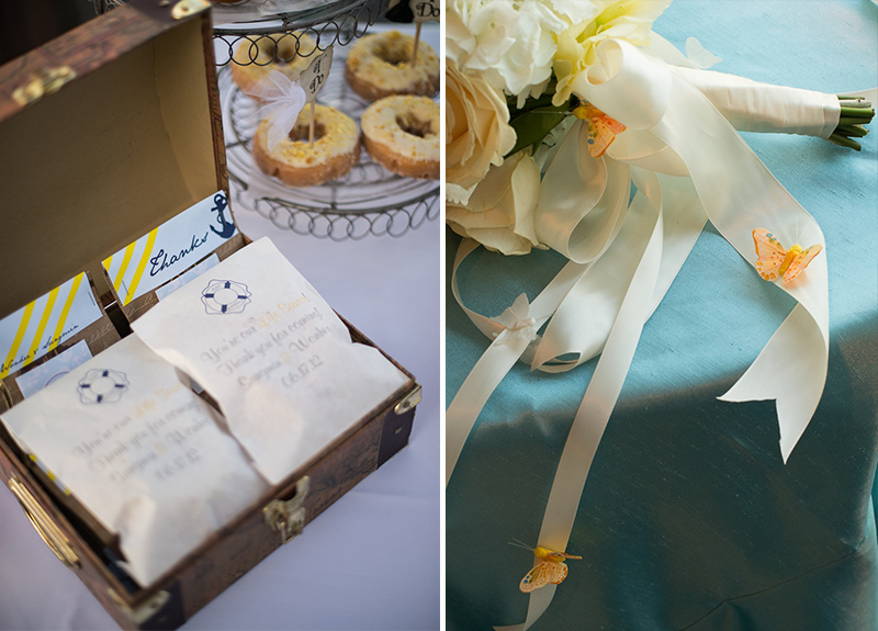 Nautical Blue, Yellow, & Gray California Wedding via TheELD.com