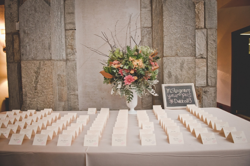 Pink and Orange Pennsylvania Fall Wedding via TheELD.com