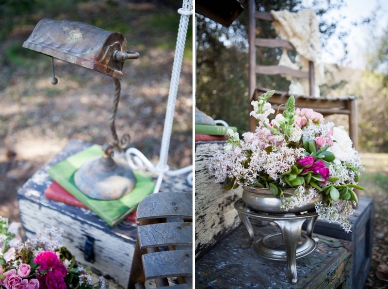 Vintage and Rustic Pink Wedding Inspiration via TheELD.com