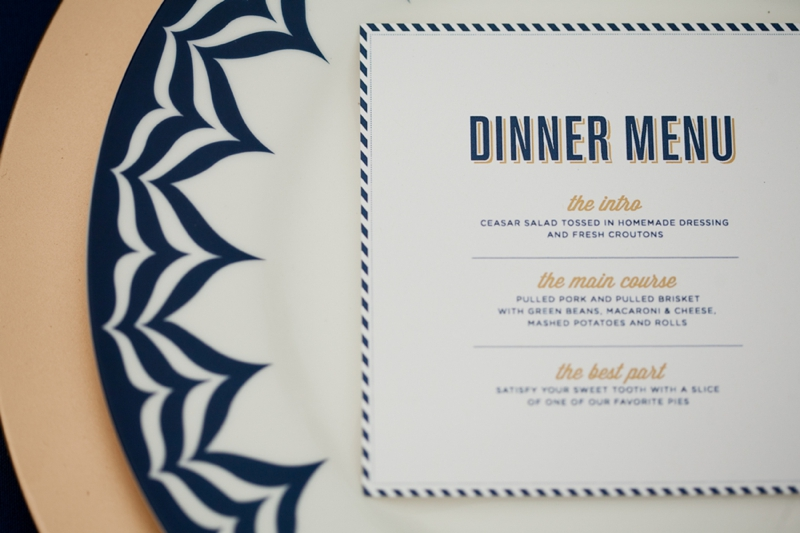 Woodland Navy and Gold Wedding Inspiration via TheELD.com