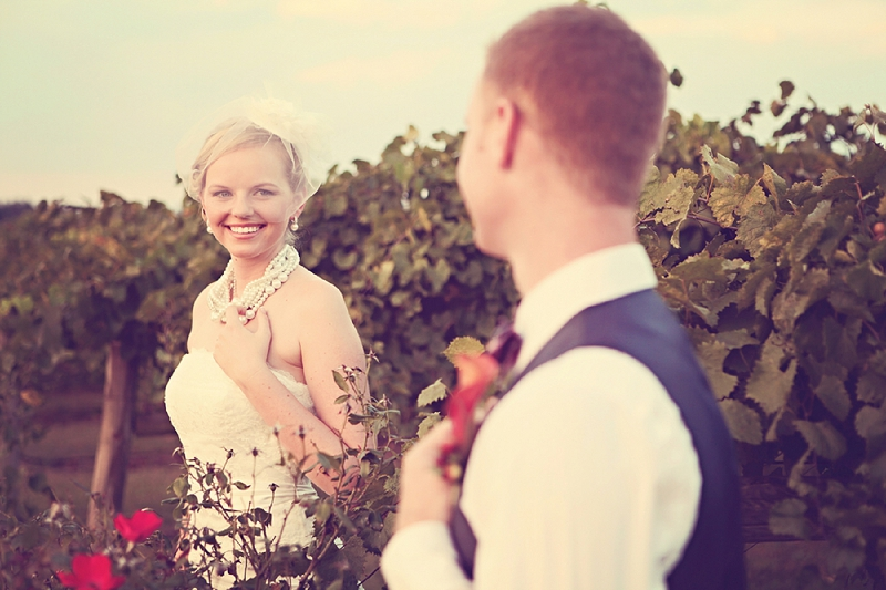 Vintage Red & Orange North Carolina Wedding via TheELD.com