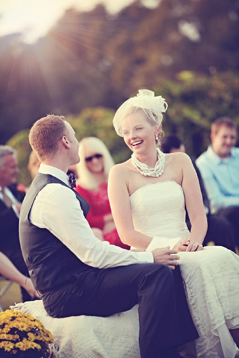 Vintage Red & Orange North Carolina Wedding via TheELD.com