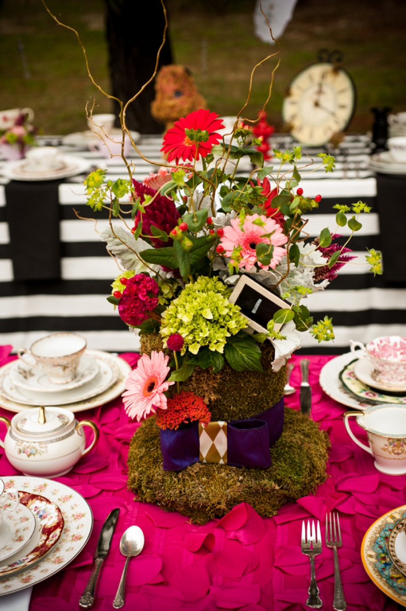 alice in wonderland themed bridal shower every last detail