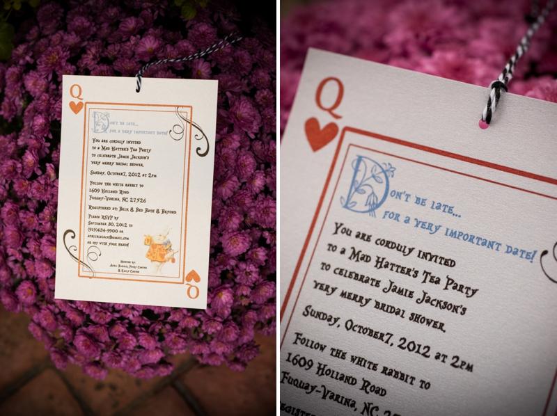 Alice In Wonderland Themed Bridal Shower via TheELD.com