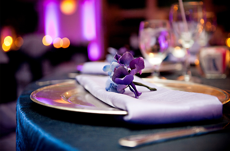 Classic and Eclectic Purple and Blue Wedding via TheELD.com