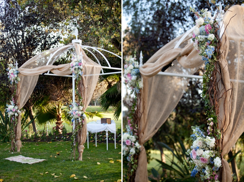 Eclectic Handmade Pink California Wedding via TheELD.com