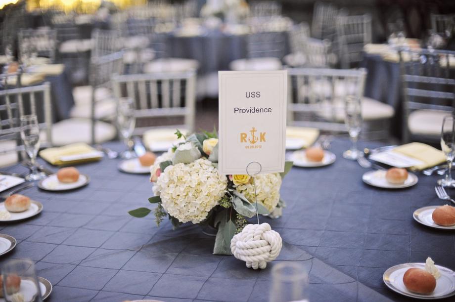 Nautical Inspired Gray & Yellow New York Wedding via TheELD.com