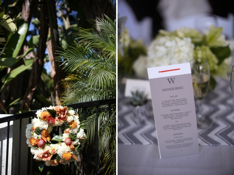 Modern Chic Gray and White Wedding via TheELD.com