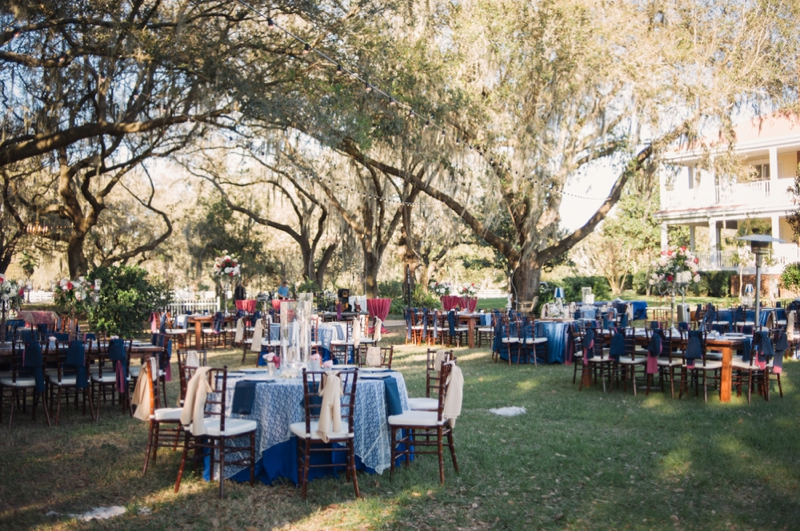 Southern Vintage Pink and Navy Wedding via TheELD.com