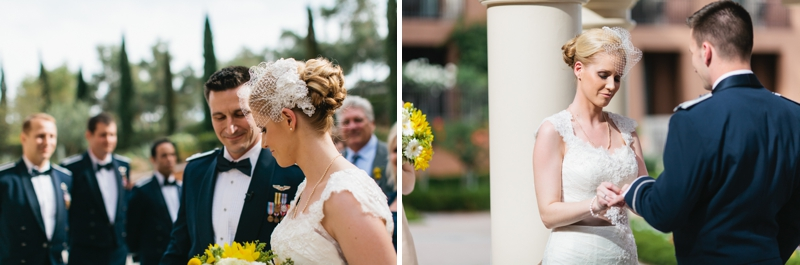 Yellow and White Air Force Wedding via TheELD.com