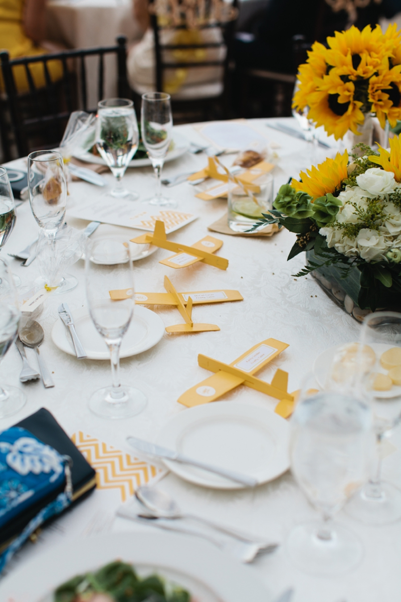 Yellow and White Air Force Wedding | Every Last Detail