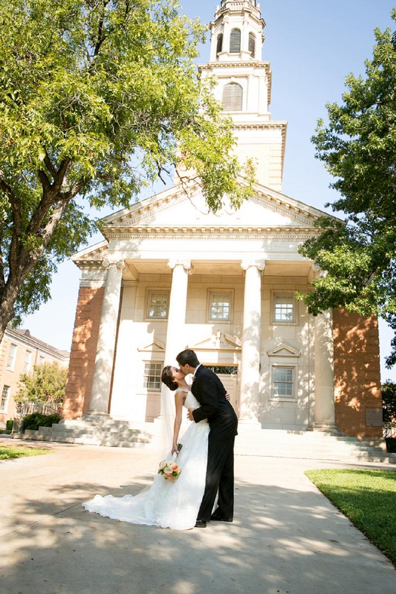 Vintage Peach & Blue Texas Wedding via TheELD.com