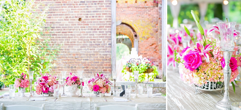 Rustic Garden Hot Pink Georgia Wedding via TheELD.com