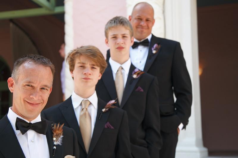 Classic Purple, Champagne, & Green Florida Wedding via TheELD.com