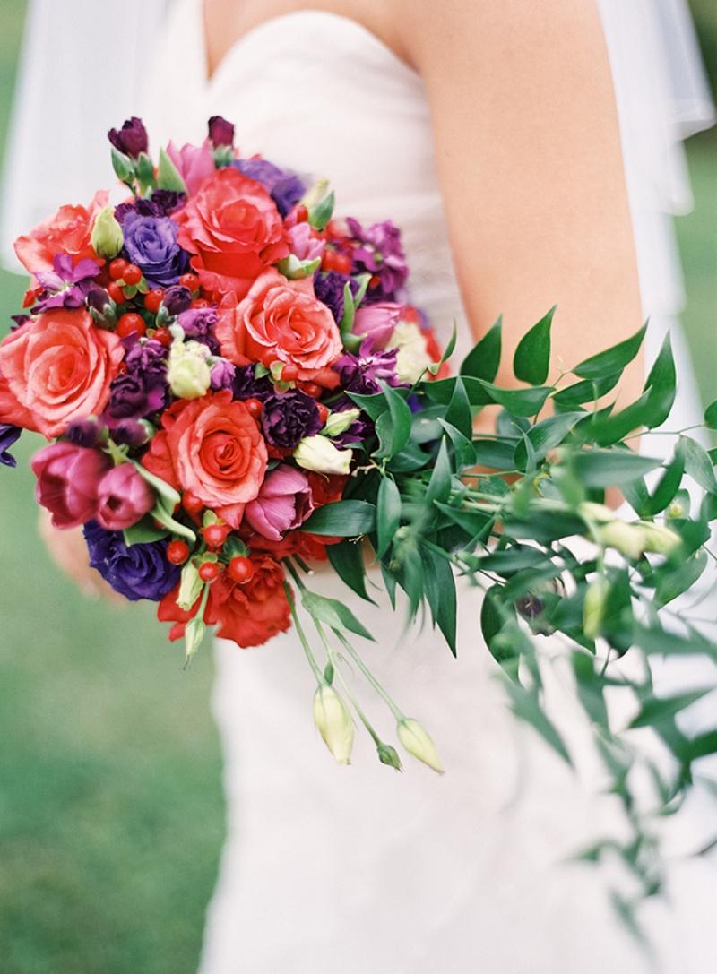 Rustic Purple & Orange Virginia Wedding via TheELD.com