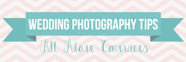 Wedding Photography Tips: All About Contracts via TheELD.com