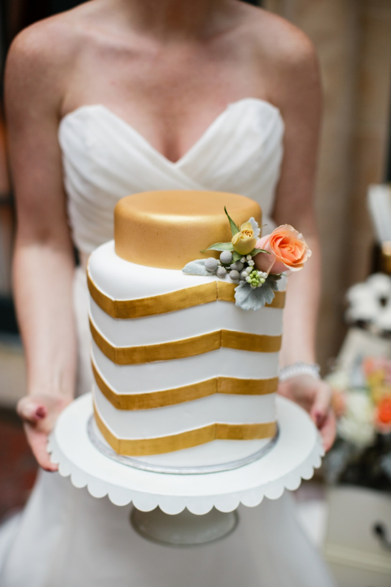 Fresh Southern Peach and Gold Wedding Inspiration via TheELD.com