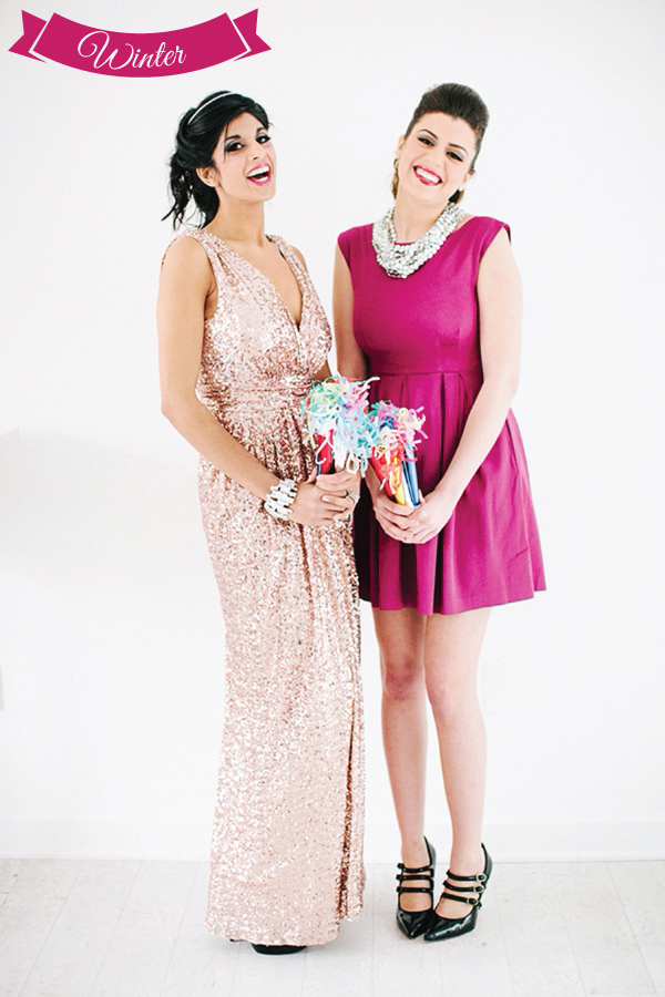 Modern Palm Springs Inspired Bridal Party Attire Ideas via TheELD.com