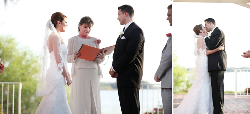 Modern Elegant Coral and Gray Wedding via TheELD.com
