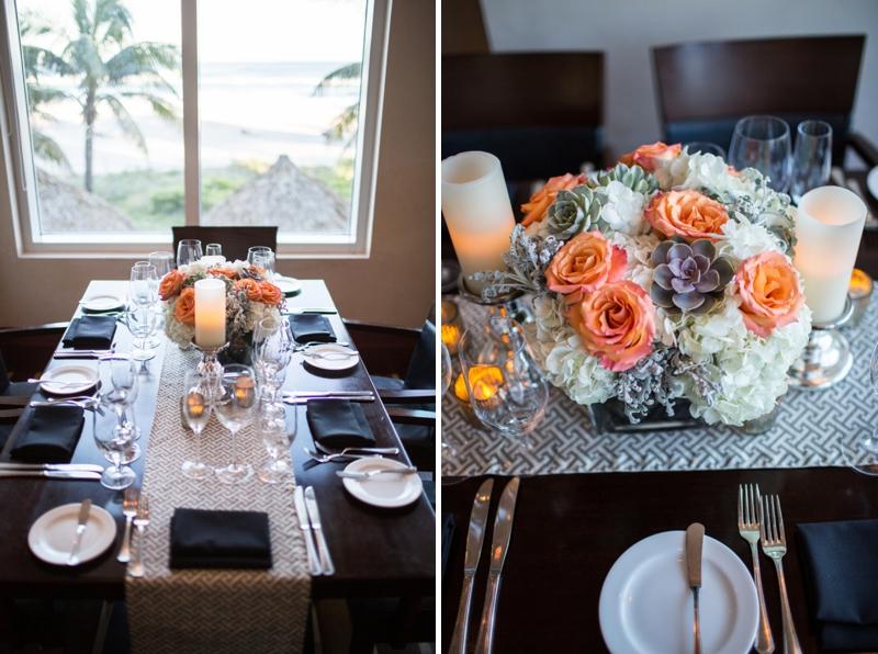 Modern Orange and Gray Florida Wedding via TheELD.com