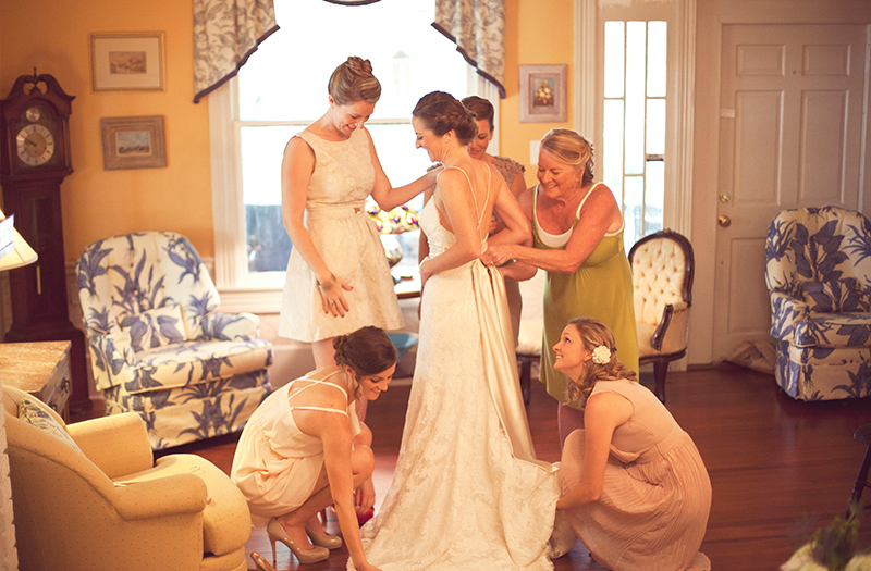 A Shuffleboard Club Vintage Eclectic Wedding via TheELD.com