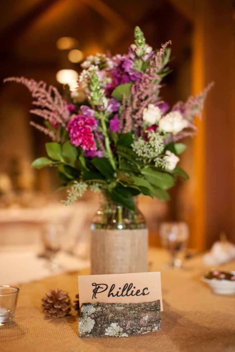 Rustic Vintage Pink & Purple Wedding via TheELD.com