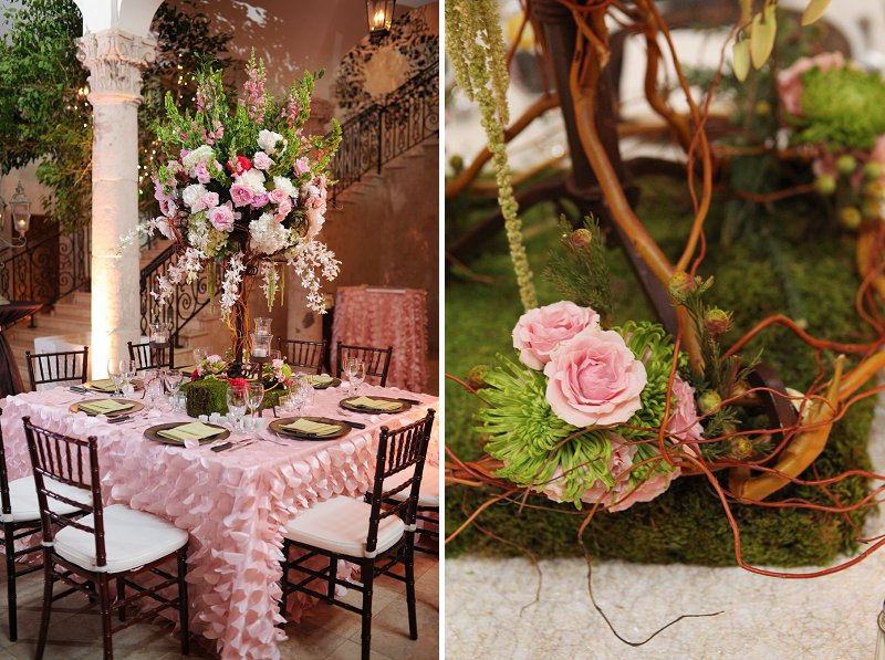 Elegant Enchanted Garden Pink And Green Wedding Every Last Detail