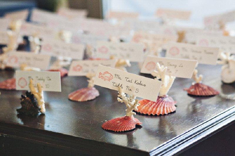 An Ocean Inspired Coral and Aqua Wedding via TheELD.com