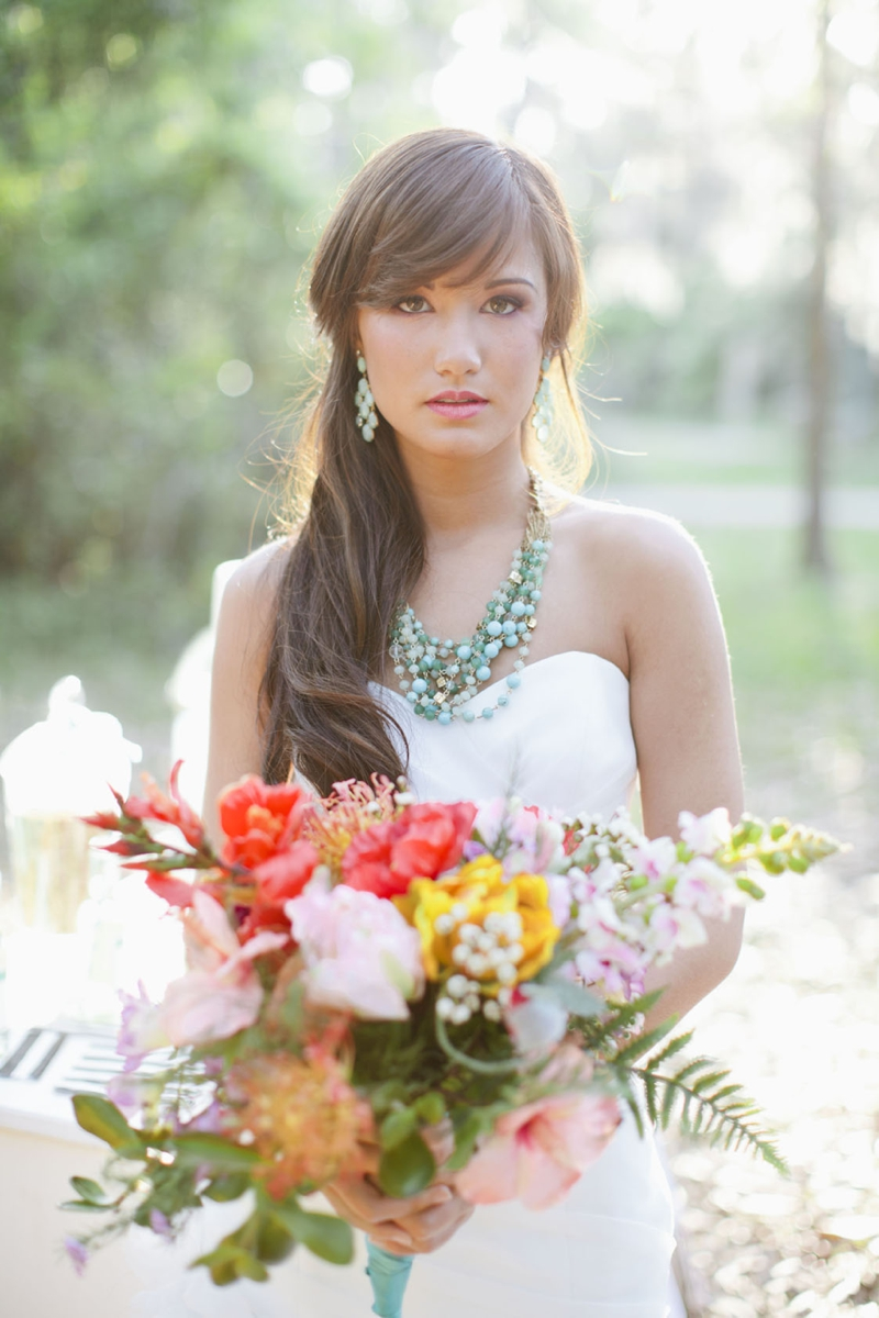 Aqua, Black, and White Wedding Inspiration via TheELD.com
