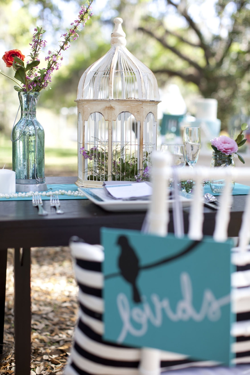 Aqua Black And White Wedding Inspiration Every Last Detail