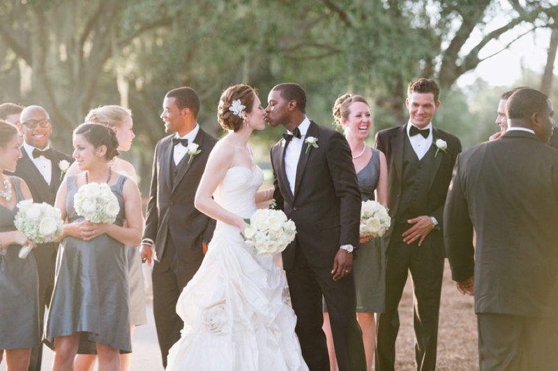 Elegant Pink and Gray Wedding via TheELD.com
