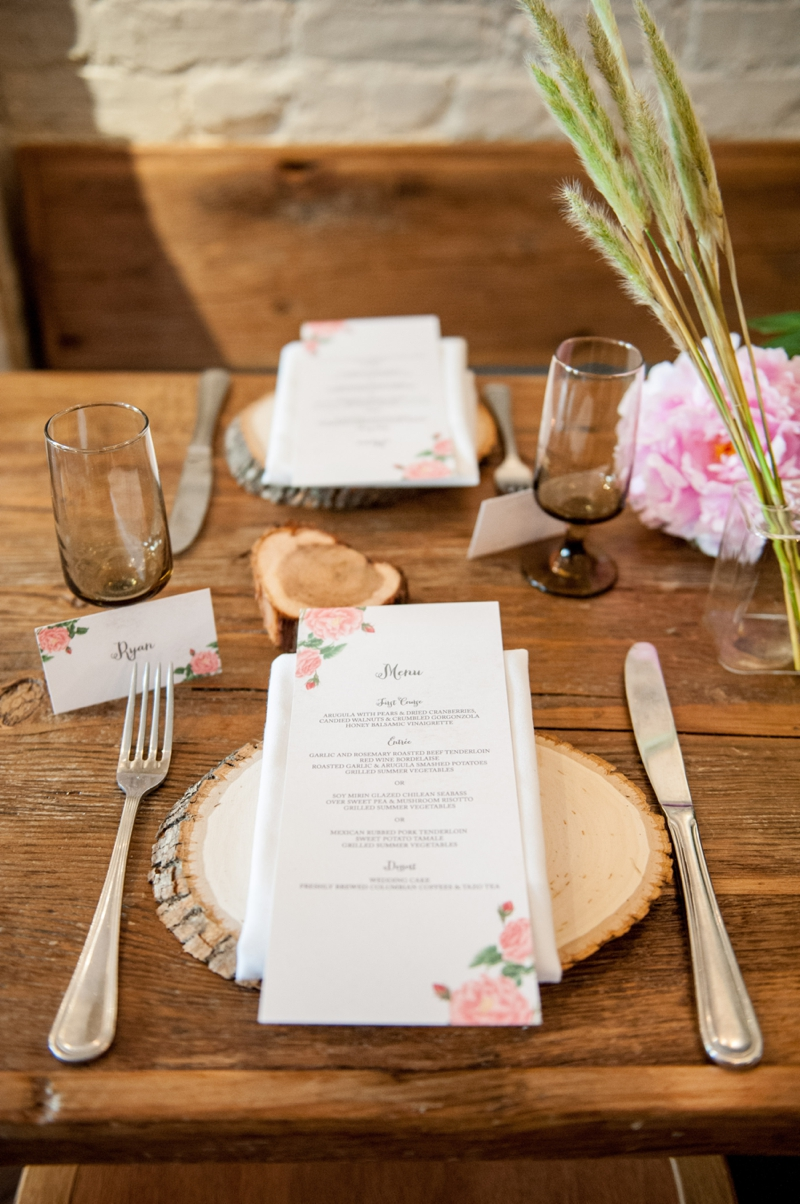 Floral Print Wedding Ideas {Rustic} via TheELD.com