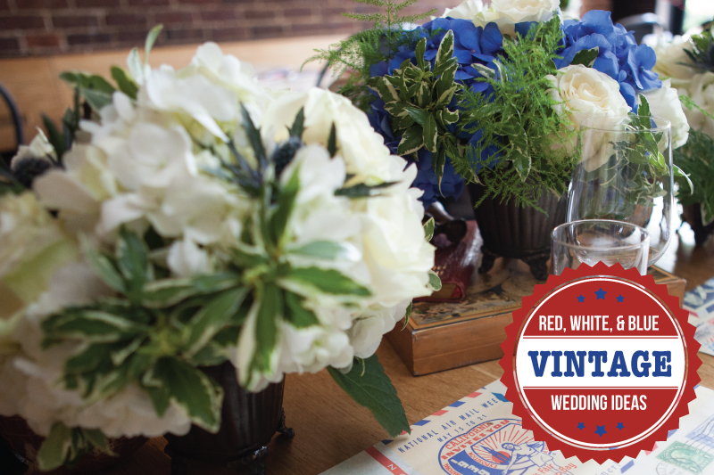 Red, White, and Blue Wedding Ideas {Vintage} via TheELD.com