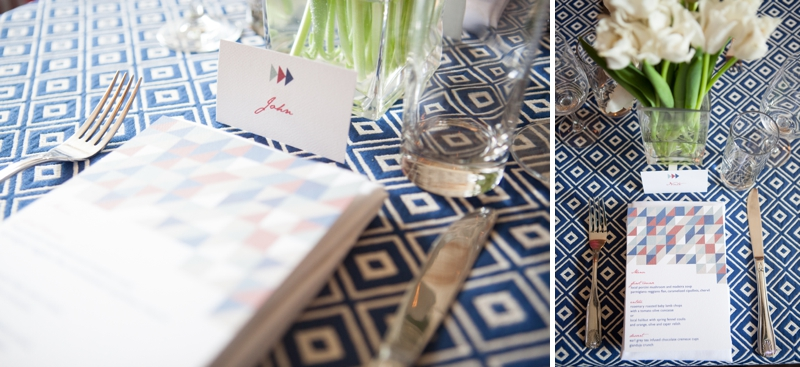 Red, White, and Blue Wedding Ideas {Modern} via TheELD.com