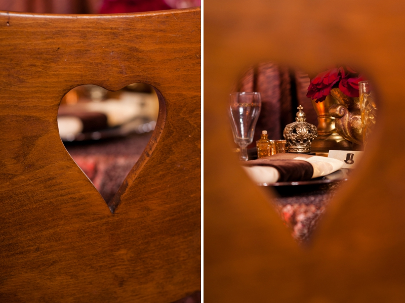 Steampunk Red and Copper Wedding Inspiration via TheELD.com