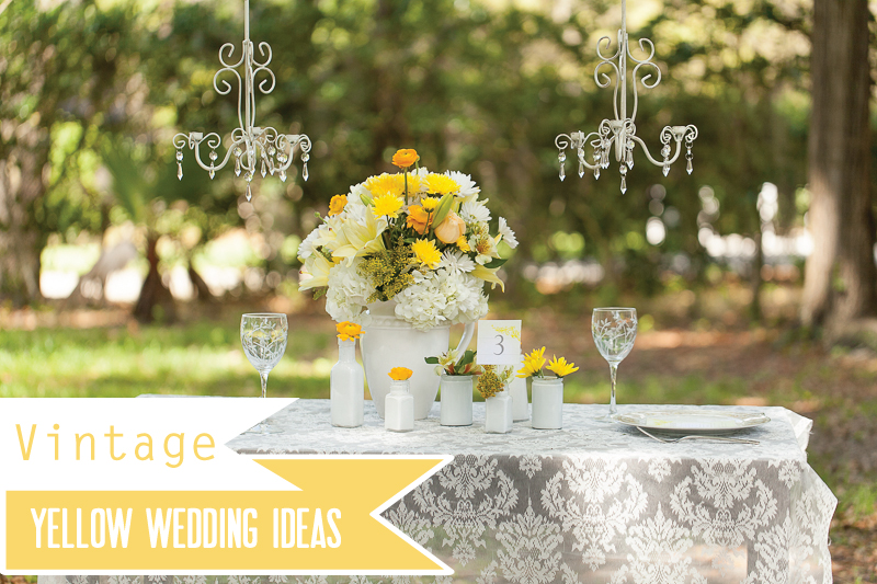Yellow Wedding Ideas {Vintage} | Every Last Detail