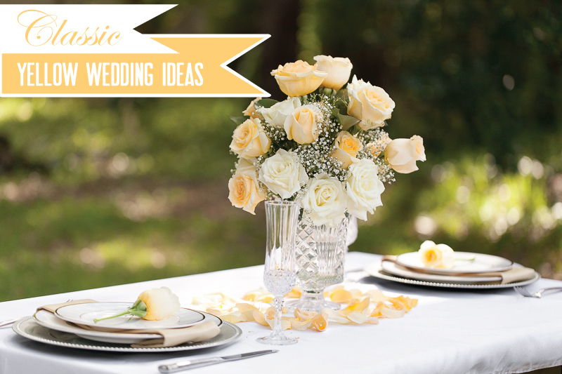 Yellow Wedding Ideas {Classic} via TheELD.com