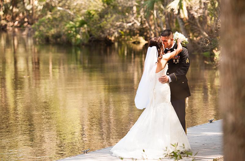 Classic Black and White Florida Wedding via TheELD.com