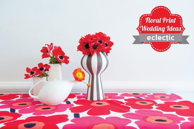 Floral Print Wedding Ideas {Eclectic} via TheELD.com