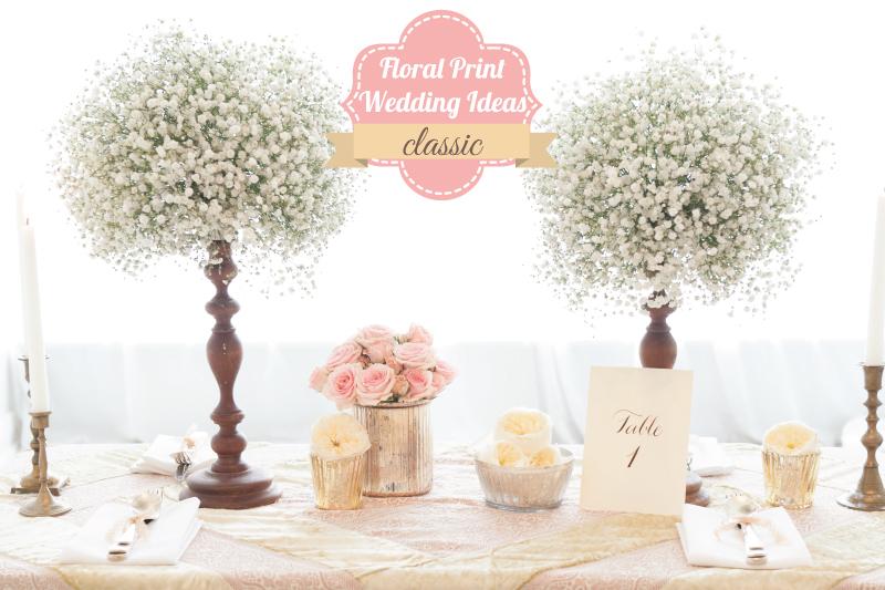 Floral Print Wedding Ideas {Classic}  via TheELD.com