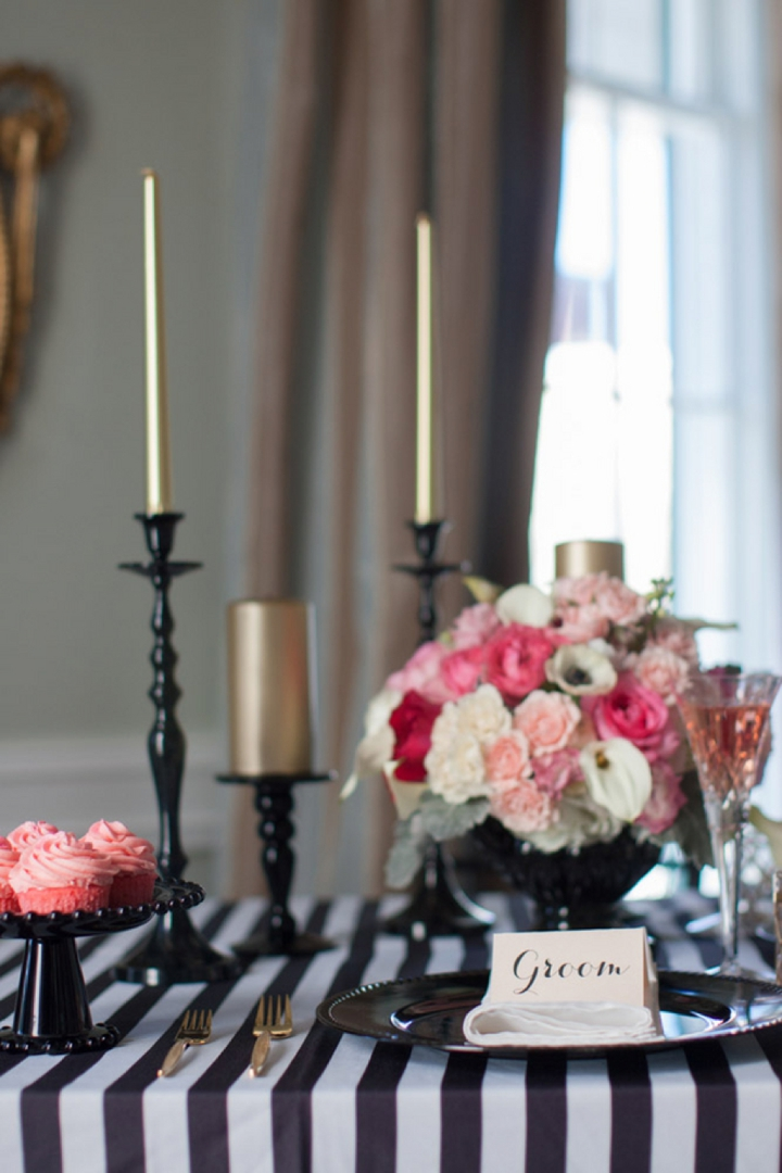 Modern Black Pink And Gold Wedding Inspiration Every Last Detail
